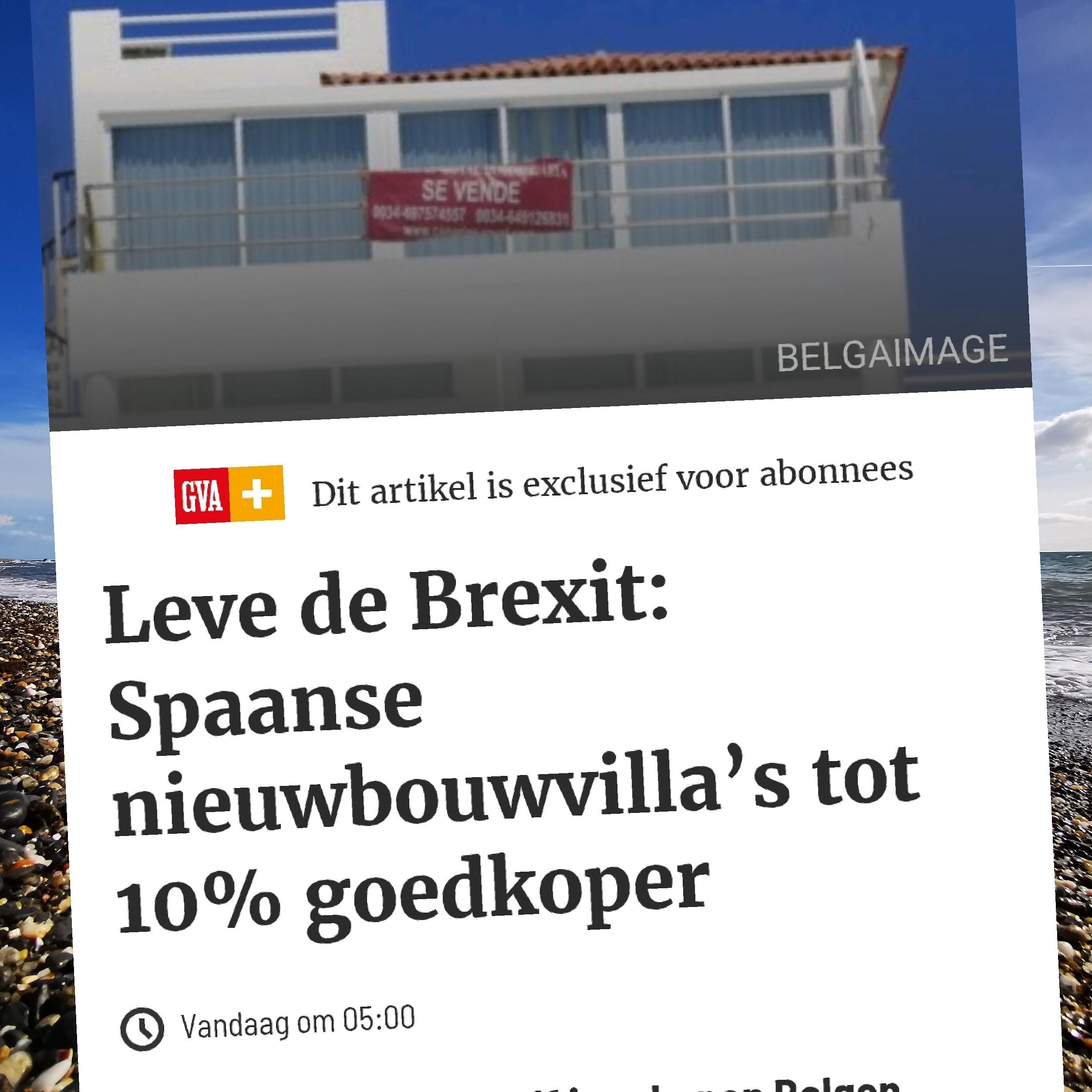 Je bekijkt nu Spaans vastgoed tot 10% goedkoper dankzij Brexit